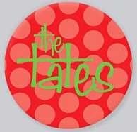 Red Polka Personalized Christmas Plate