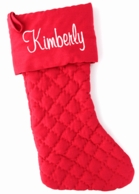 Red Quilted Personalized Christmas Stocking
