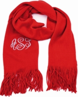Red Soft As A Sweater Monogrammed Scarf