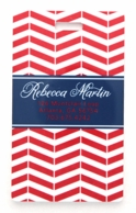 Red Striped Chevron Personalized Luggage Tags - SET OF 2