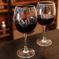 Red Wine Initial Glasses (Set of 4)