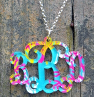 Reef Monogrammed Acrylic Necklace