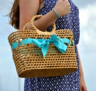 Rehoboth Ribbon Basket Bag - CHOOSE YOUR SIZE & RIBBON COLOR!
