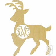 Reindeer Wood Wall Monogram Decor