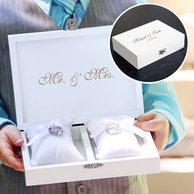 Ring Bearer Pillow Keepsake Box (Includes Jewelry Inserts)