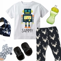 Robot Persoanlized Kids Tee