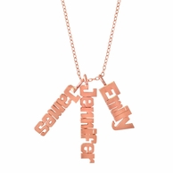 Rose Gold Vertical Name Necklace - CHOOSE YOUR NUMBER OF NAMES!