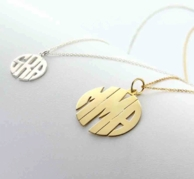 Round Single Bail Monogram Necklace - SILVER OR GOLD!