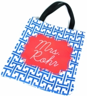 Royal Blue Greek Key Personalized Everyday Tote
