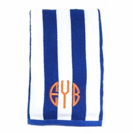 Royal Blue Stripes Personalized Towel