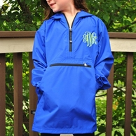 Royal Monogrammed Youth Pullover Rain Jacket