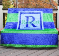 Rugby Stripe Personalized Fleece Throw Blanket