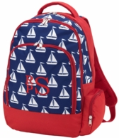 Sail Away Monogrammed Backpack