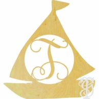 Sailboat Wood Wall Monogram - UNFINISHED