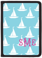 Sailboats Monogrammed iPad AIR Folio Cover - DESIGN YOUR OWN!