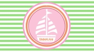 Sailor Girl Personalized Kids Placemat