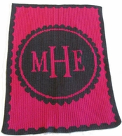 Scallop Circle Monogram Blanket
