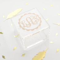 Scallop Monogram Acrylic Trinket Box