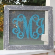 Screened In Porch Monogrammed Screen Wall Decor