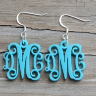 Script Acrylic Monogram Earrings