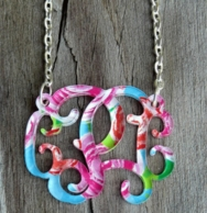 Floating Vine Monogram Acrylic Necklace - Mary Beth Goodwin Prints!