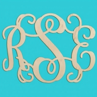 Script Wood Wall Monogram - FAST SHIPPING!