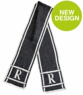 Scroll & Monogram Personalized Adult Knit Scarf