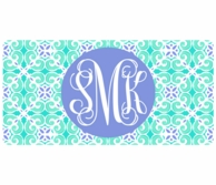 Sea Tile Monogrammed Car Tag License Plate