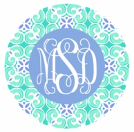 Sea Tile Monogrammed Coasters - SET OF 4