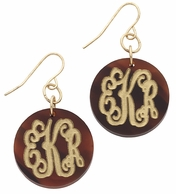 Serendipity Monogrammed Acrylic French Wire Earrings