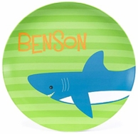 Shark Attack Personalized Kids Plate