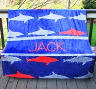 Shark Personalized Fleece Throw Blanket