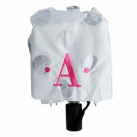Silver Glam Dots Monogrammed Umbrella