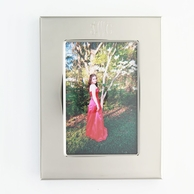 """Silver Monogrammed 5 x 7"""" Photo Frame"""