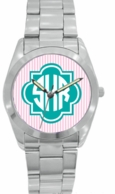 Silver Stainless Monogrammed Women's Watch - DESIGN YOUR OWN ONLINE!