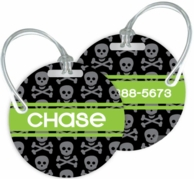 Skulls Personalized Kids Bag Tags - SET OF 2 - CHOOSE YOUR DESIGN!