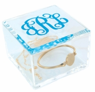 Small Acrylic Monogrammed Clear Box