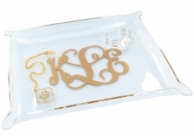 Small Monogrammed Acrylic Jewelry Tray