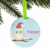 Snow Owl Personalized Ornament