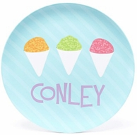 Snowcone Line Up Personalized Kids Plate
