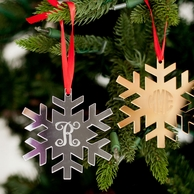 Snowflake Personalized Mirrored Acrylic Ornament