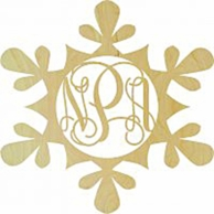 Snowflake Wood Wall Monogram