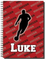 Soccer Player Personalized Spiral Notebook