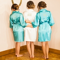 Solid Personalized Bridesmaid Satin Robe