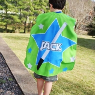 Space Star Boy Personalized Super Hero Cape