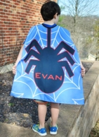 Spider Personalized Kids Super Hero Cape