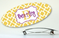 Squares Personalized Hair Barrette - CHOOSE YOUR COLORS