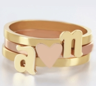 Stackable Initial Rings - CHOOSE YOUR METALS!