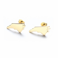 State Gold or Sterling Silver Post Earrings