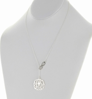 Sterling Silver Infinity Cut Monogram Lariat Necklace